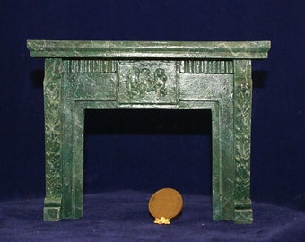 1:12 Scale Fireplace Mantel - Leaves and Cherubs (LC 6)