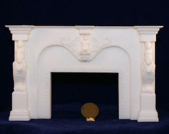 1:12 Scale Fireplace Mantel - French Cherubs (FCMB 2)