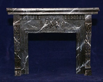 1:12 Scale Fireplace Mantel - Leaves and Cherubs (LC5)