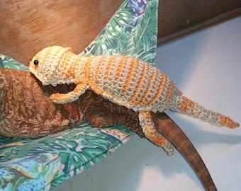 Bearded Dragon Amigurumi Stuffed Toy Crochet PATTERN only
