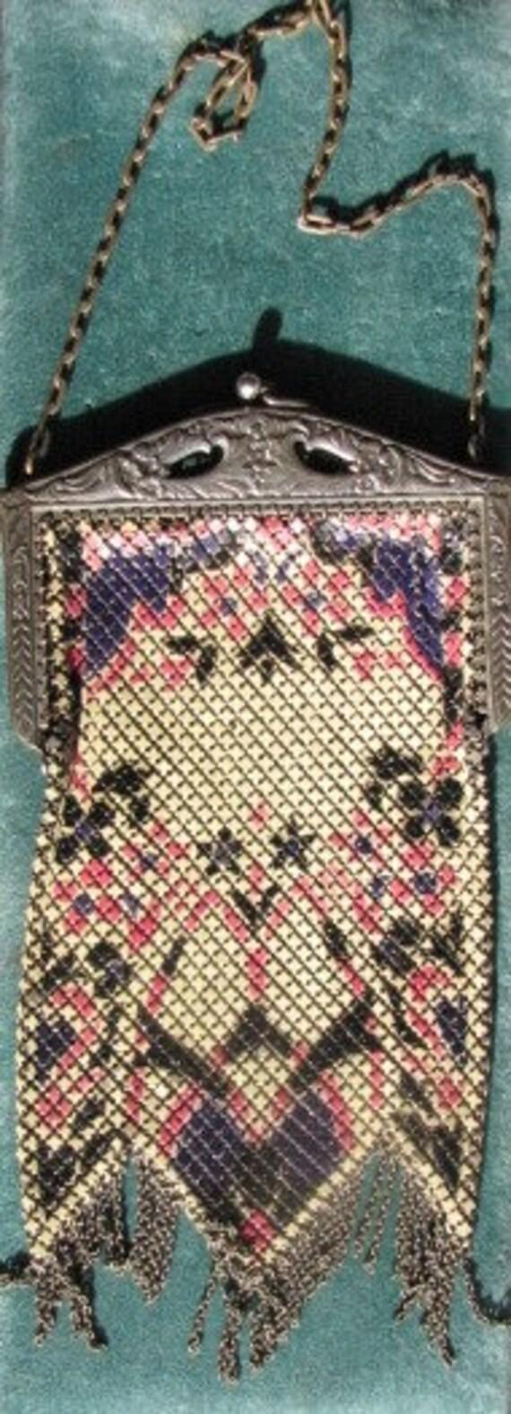 Antique Signed Mandalian Mesh Evening Bag