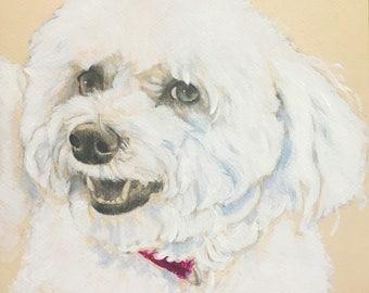 Dog Sketch Custom Portrait, 8 x 10