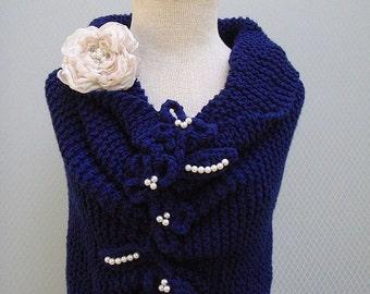 Knitting shawl, wedding gown, handmade flower, handmade shawl, wedding gift, wedding accessories, bridal accessories, bridal shawl, wedding