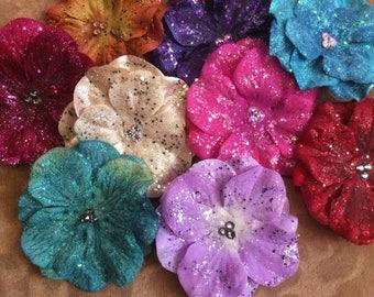 Ultra Sparkler Hydrangea Hair Flower