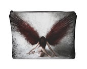 Resilient Red Angel Carry All Pouch  Makeup Bag  Toiletry Bag  Pencil Bag