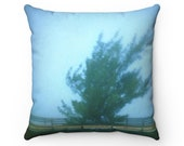 Pillow Case Only Spun Polyester Square Pillow Case with Fine Art Image of Tree in Mist