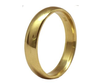 Classic Love   18K Yellow Gold Wedding Band   Comfort Wedding Band   Classic Wedding Band   Traditional Wedding Band   Recycled Gold