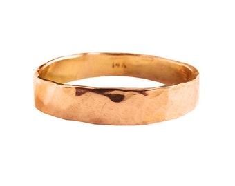 14K Rose Gold Reflections of Love Wedding Band | Recycled Gold Wedding Bands | Simple Wedding Bands | Textured Wedding Bands.