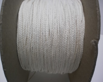 Candle Wicks Braided 60 ft - Candle Wicking- Candle Making Supplies- Candle Wicks - BTY Yardage Lot