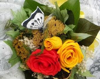 Pet Loss Broken Heart Dried Flower Tussie Mussie