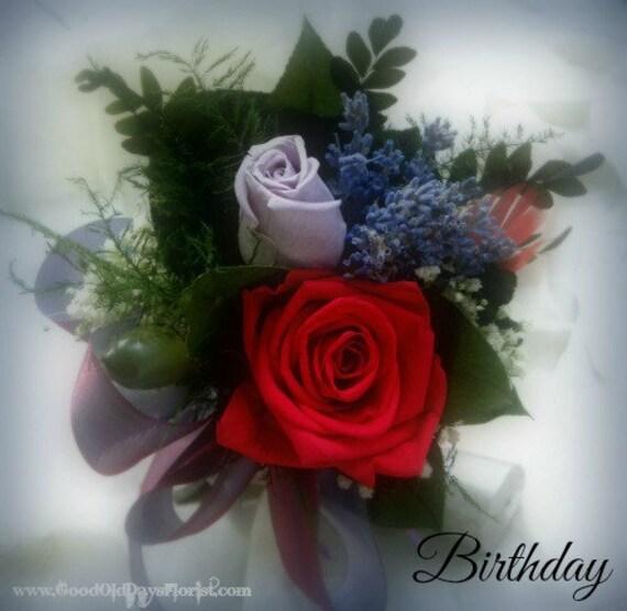Joyeux Anniversaire Tussie Mussie Séché Bouquet De Fleurs