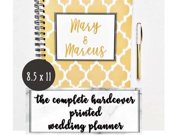 Cadeau de planificateur de mariage personnalisé, wedding planner ordinateur portable, cadeau de fiançailles pour elle, personnalisé wedding planner livre, sur RDV