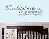 Items Similar To Goodnight Stars Decal Baby Nursery