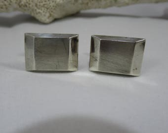 Vintage Silver Cuff links Made in Mexico 925 Silver Mens Accessories Hallmarked JF and Alpaca