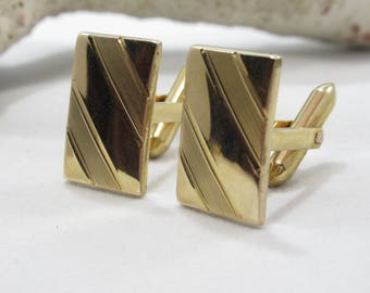 Gold Cuff Links 1/20 14k GF Hallmarked Fathers Day GIft