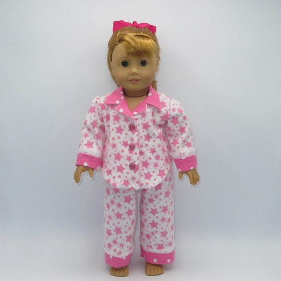 "Denim Jumper w// Pink Butterfly 3pc Set Fits 18/"" American Girl Doll"