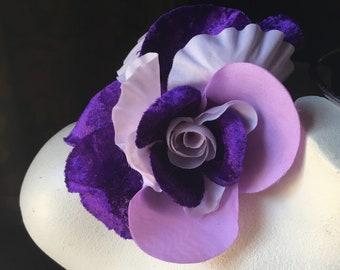 Purple silk flowers etsy purple flowers velvet and silk millinery for bridal hats corsages mf mightylinksfo
