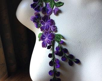 dark purple Applique for clothes pearl 2618.
