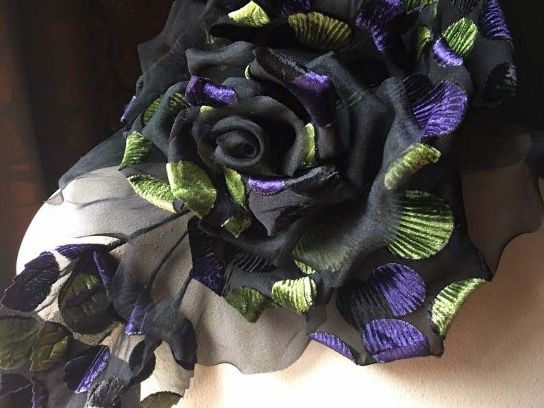 Hats Corsages Costume Design MFLG 21 BLACK Silk Rose Handmade for Kentucky Derby Sashes Pins Ascot