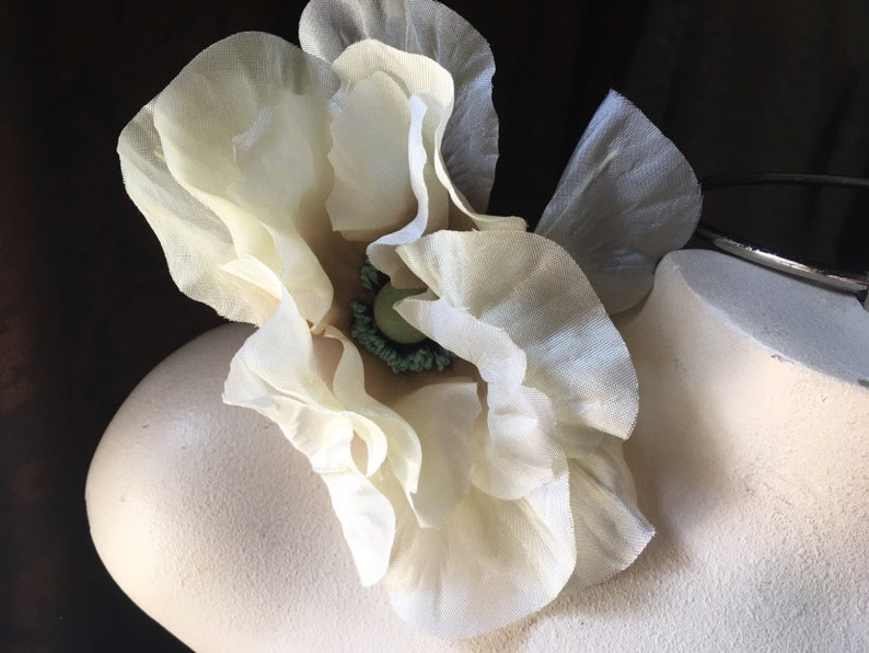 Bridal Vintage BEIGE CREAM Poppy Millinery for Hats Corsages  MF 280