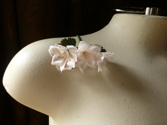 Blush silk flowers vintage millinery flowers for bridal etsy image 0 mightylinksfo