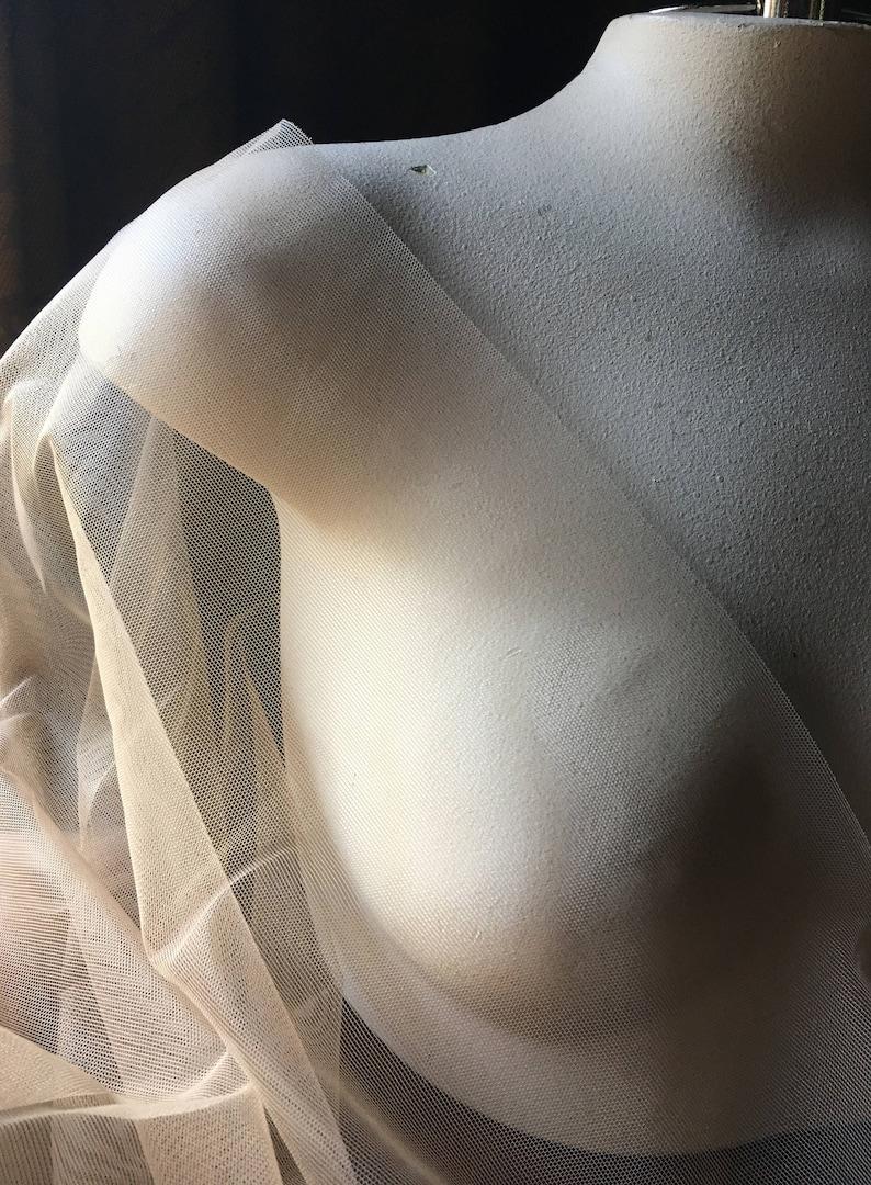 Nude STRETCH Illusion Net for Bridal Prom Swimwear Skating image 0