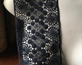 Black Lace Venise Style for Garments, Costumes L 3150