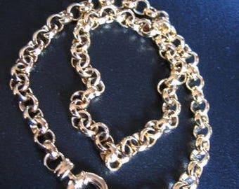 GOLD PLATED Cable Link Chain Necklace