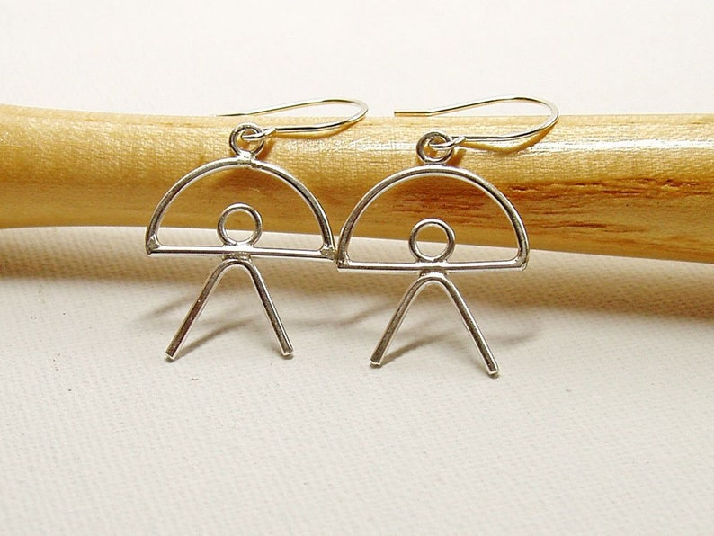 Indalo Man Earrings in Sterling Silver Symbolic Jewellery image 0
