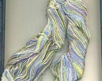 Tilli Tomas Silk Yarn in Blue, Green, Purple, Yellow