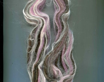 Louet Rosewood, Dyed Wool, Mohair, Rayon Fiber from Bamboo Top