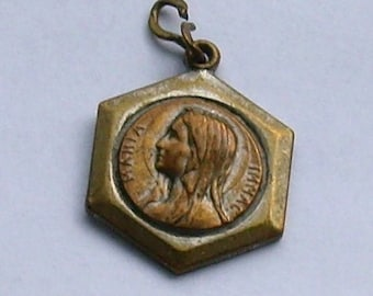Vintage Mary Immaculate Art Deco Medal