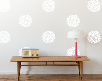 Flower Wall Pattern Decals- 10 Blooms- 13 in. or 18 blooms- 9 in., Vinyl Wall Graphics, Wallpaper, Stickers, Vinyl Decals - item 10010