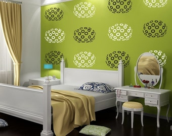 Modern Disco Circles, Vinyl Wall Decal - 12 graphics, Wallpaper, Stickers, item 10003