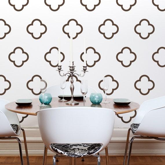 Moroccan style vinyl wall decals moroccan quatrefoil bubbles