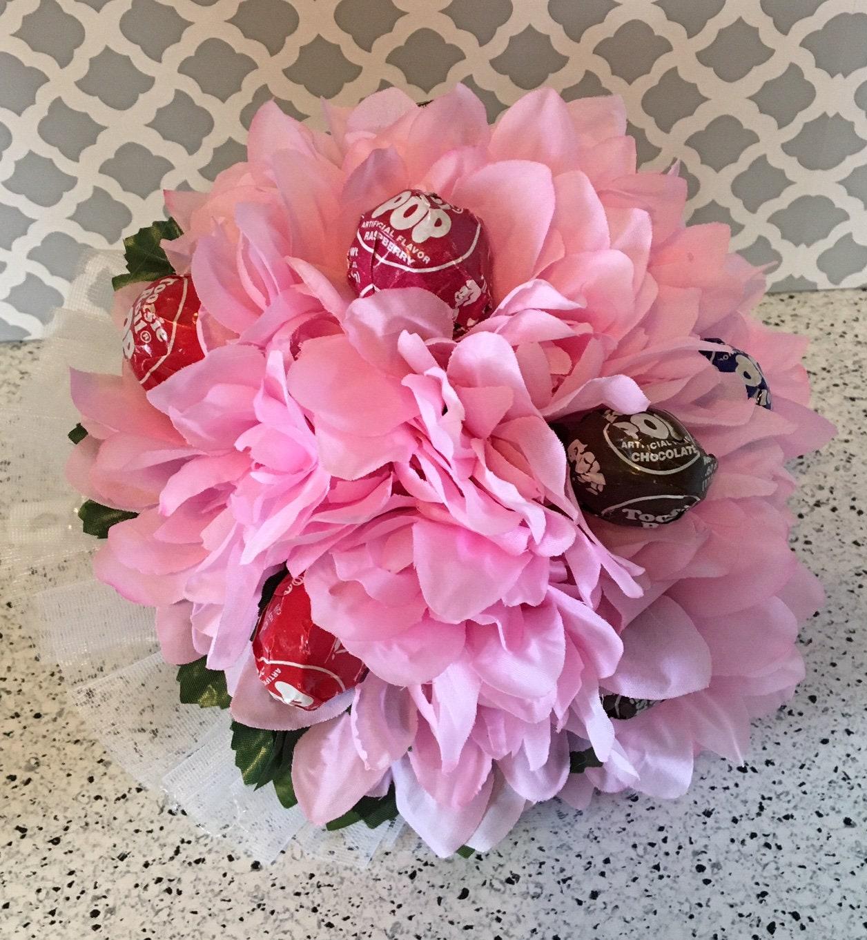 Pink Lollipop Bouquet Dance Recital Bouquet Etsy