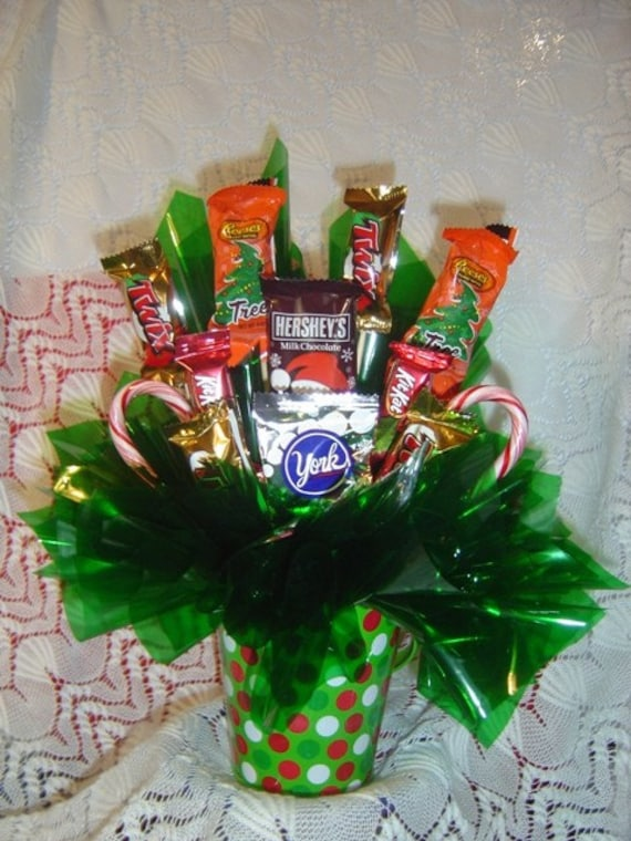 Christmas Candy Table Arrangement Holiday Candy Arrangement Etsy