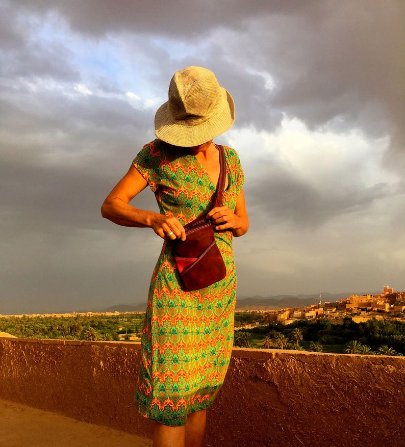 PERFECT EVERYDAY BAG  Handmade Leather Bag from Chefchaouen image 0