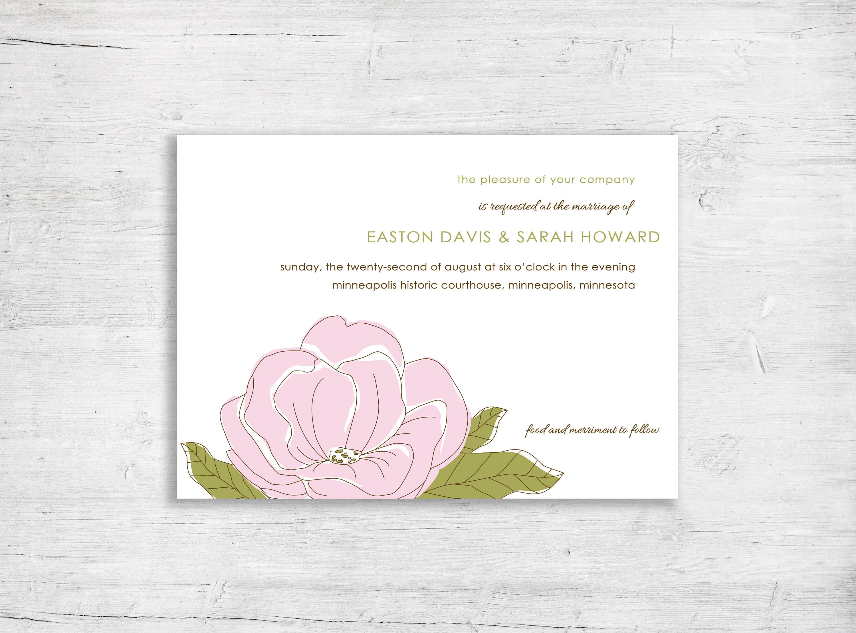 Wedding Invitations Botanical Wedding Invitation Modern | Etsy