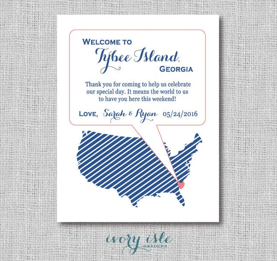 Diy Wedding Favors Usa Map Favor Tags Welcome Tags Etsy