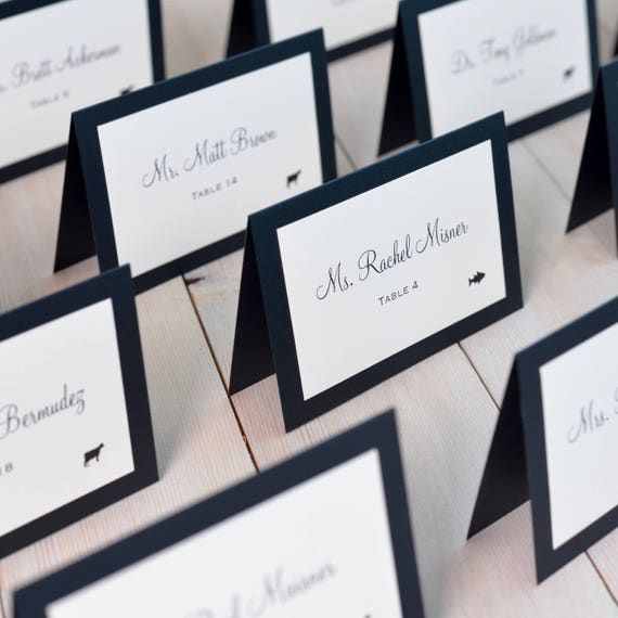 Placeholder Place Cards Double Layer Escort Cards Meal