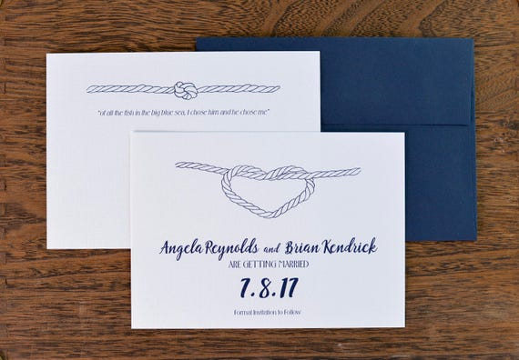 photo about Printable Knot Tying Cards called Electronic Printable Record Help you save The Day - Tie The Knot - Tying - Coastal Nautical Topic - Rowboat - Place Wedding day - Seashore Documents