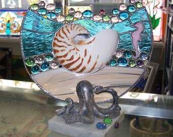 Sea Scape with Octopus stand