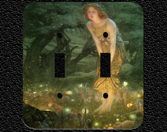 Fairy God Mother and Fairies Light Switch Plate Covers: Toggle/Rocker/Outlet