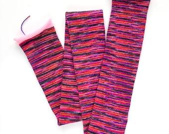 one of a kind knit tube - plank and stella test skein merino/alpaca/nylon fingering    destash