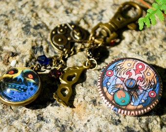 Majora's Mask Key Chain and Pin set