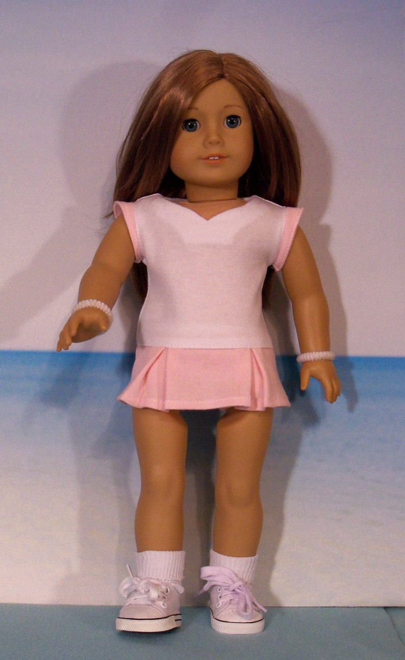 07faf3c2221e0 18 Inch Doll Tennis Dress with Briefs & Shoes