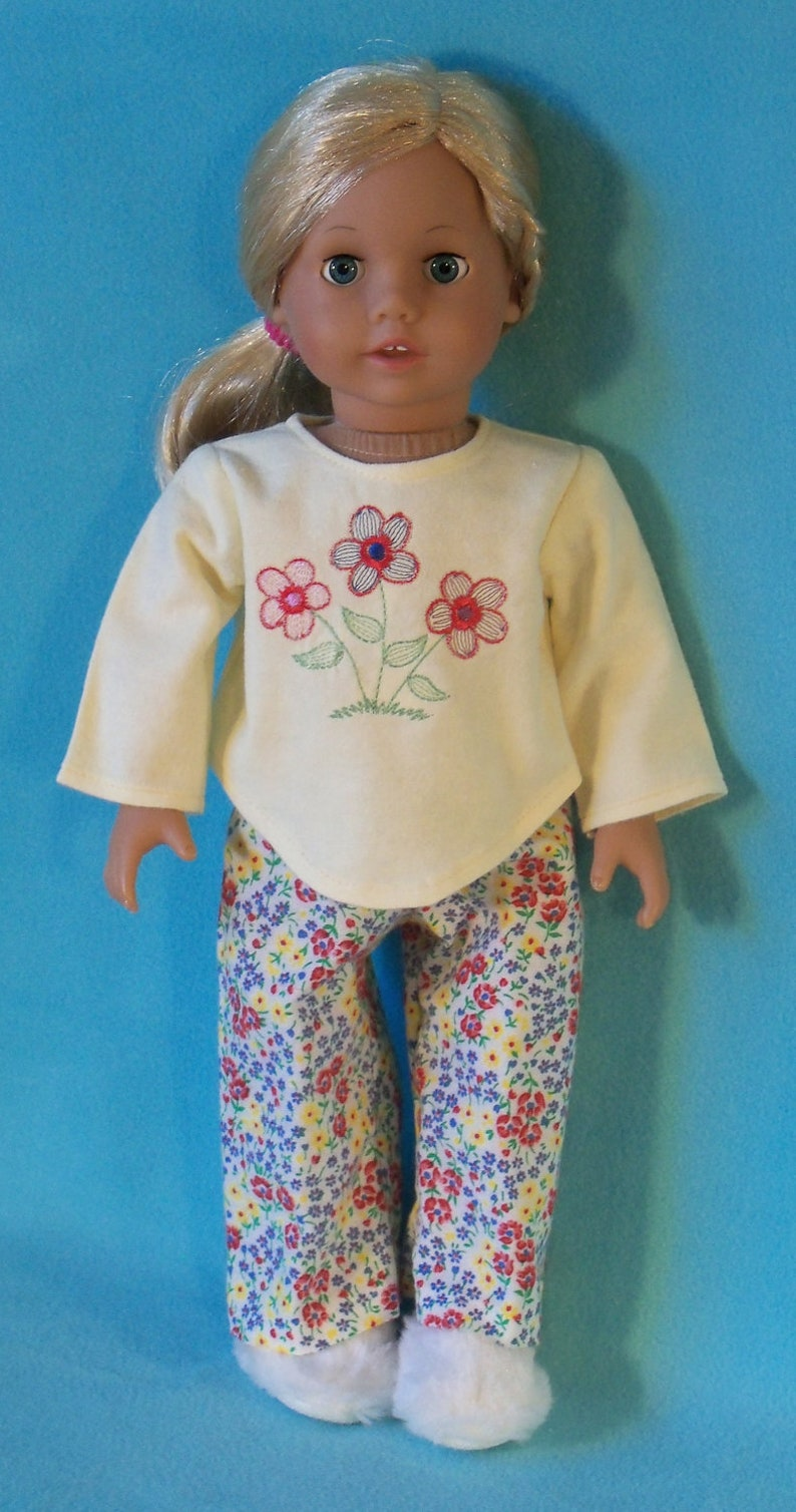 SALE 18 inch Doll Flowers Pajamas