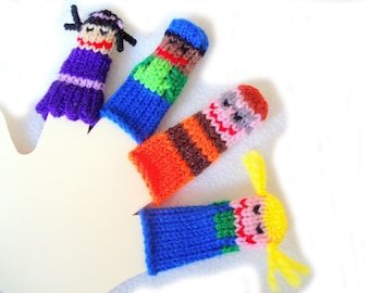 Musical Friends Finger Puppet Set (Includes 4 puppets.)  We can create custom listings of individual puppets or puppet sets.
