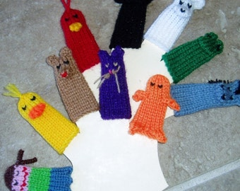 Brown Bear Brown Bear Colorful Animals Finger Puppet Set (Includes 9 colored animals and 1 mother/teacher)